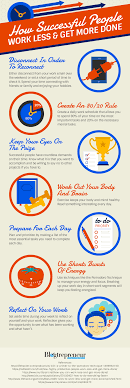 How Successful People Work Less And Get More Done Infographic E