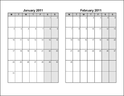 Print 2011 Calendar Six Pages Bi Monthly Ask The