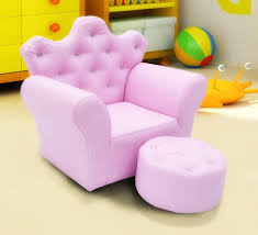 kids armchair pink girls chair footstool children seat footrest crystal ons