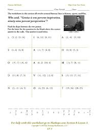 writing linear equations in point slope form worksheet