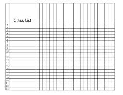 Class Roster Template Madinbelgrade