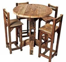breathtaking round pub table with chairs rustic