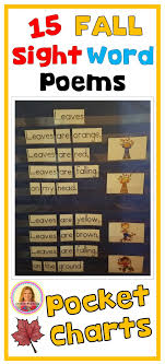 Pocket Chart Poems For Kindergarten Pocket Charts 15 Fall Sight Word Poems For Shared Reading