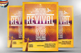 revival flyers templates church revival flyer template on behance