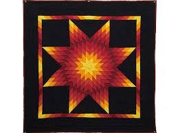 Lone Star Quilt -- magnificent skillfully made Amish Quilts from ... & Indiana Amish Van Buren Lone Star Wall Hanging Photo 1 ... Adamdwight.com