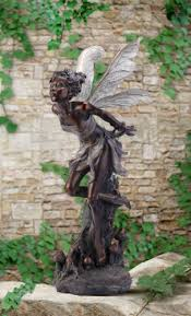 bronze garden statues. amazon.com : napco bronze kissing fairy garden statue, 34-inch tall outdoor statues \u0026