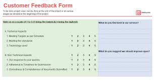 Word Forms Templates Customer Feedback Form Templates Samples 100 Free Word