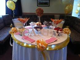 image of round table buffet