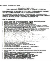 Hotel Sales Coordinator Job Description Marketing Coordinator Job ...