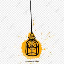 Yellow Creative Chandelier Lamp Team Idea Lamp Frame Gallbladder