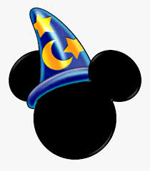Sorcerer Mickey Hat Clipart - Mickey Mouse Wizard Head , Free ...
