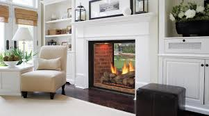 indoor outdoor wood fireplace double sided elegant marquis see thru directvent gas fireplaces majestic products for