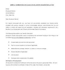 Example Letter Of Termination Example Of Termination Letter To Employee Blogue Me