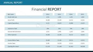 Powerpoint Financial Financial Report Table For Powerpoint Slidemodel