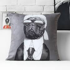 cool couch pillows. Modren Couch Karl Lagerfeld Cool Pillow Gray Decorative Pillows For Couch Animal Dog  Pattern Intended Cool Couch Pillows D