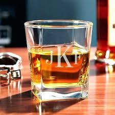 monogrammed crystal whiskey glasses custom scotch glass personalized square engraved rocks set of 2 monogra