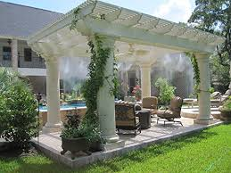ThinkGlobal Misting Systems Mist Cooling Fan And Outdoor Cooling Backyard Misting Systems