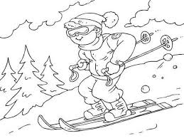 Small Picture Free Winter Coloring Pages Skiing Printable Winter Coloring