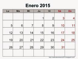 Calendarios Para Imprimir 2015 Calendario De Enero 2015 Para Imprimir Calendario Para