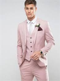 Light Pink Jacket Men Us 57 3 31 Off Tailor Made Light Pink Men Suit Slim Fit Groom Prom Party Blazer Costume Marriage Homme Male Tuxedo 3pcs Jacket Pants Vest In Suits