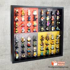 lego minifigures display solution for ikea 50x50cm ribba frame ikea ribba frame not included toys bricks figurines on carou