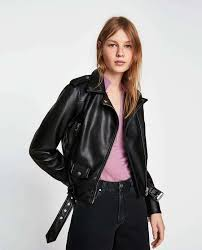 details about bnwt rrp 99 zara faux leather biker jacket beige black size xs s m l xl 3046 024