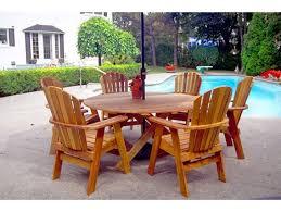the bear chair round 48 cedar dining table kit bcc bc48c by patio com