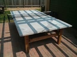 diy outdoor ping pong table concrete