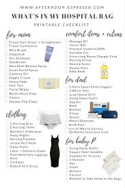 What's In My Hospital Bag + Printable Checklist For You