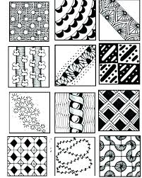 Zentangle Patterns Printable Animals Zentangle Flower Patterns