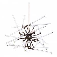 aidan gray solitude black chandelier with glass rods will delight the lover of contemporary interiors