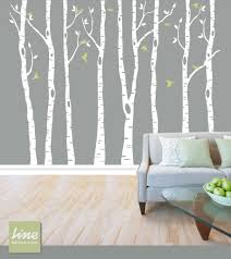 wall birch tree decal forest birch trees birch trees vinyl intended for tree wall decals fresh ideas vinyl trees for walls