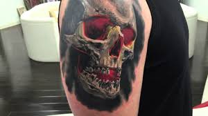 Skin Design Vegas Skull Tattoo By Vicvivid Of Skin Design Tattoo Las Vegas Nv