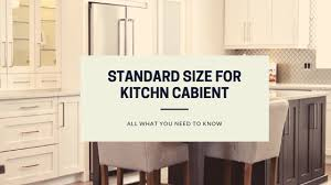 standard size for kitchen cabinet