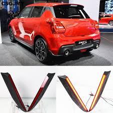 Swift Car Led Lights Us 42 0 10 Off Csgjmy Multi Functions Car Led For Suzuki Swift 2017 2018 2019 Rear Fog Lamp Pillar Light Bumper Light Brake Light Decoration In Car