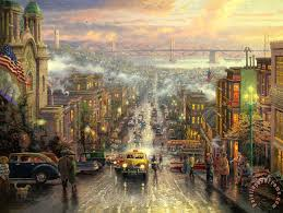 the heart of san francisco painting thomas kinkade the heart of san francisco art print