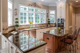 Tropic Brown Granite Kitchen Traditional With Cream Kitchen Electrolux  Appliances. Double Wide Mobile Home Kitchen Remodeling