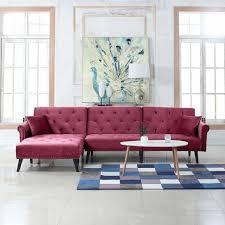 red velvet chaise lounge chair recliner