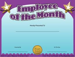 Printable Employee Of The Month Certificates Employee Of The Month Certificate Free Funny Award Template
