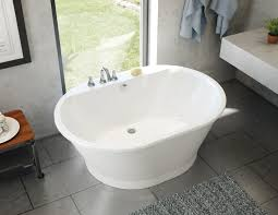 the brioso freestanding bathtub is part of the new maax professional line designed for the trades featuring clean lines with balanced angles and curves