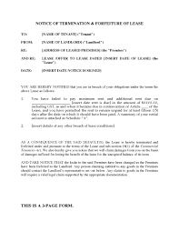 100 Sample Letter For Lease Termination 100 House Rental