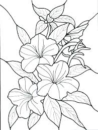 full page flower coloring pages free of flowers color by number abstract