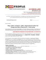 Letter Of Intent Internship Sample Job Offer Letter Format