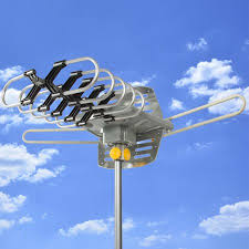 tv antenna walmart. hdtv rotor remote outdoor amplified antenna 360 uhf/vhf/fm hd tv 150 miles tv walmart d