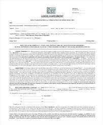 Free Printable Lease Agreement Form Residential Blank Forms ...