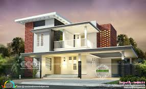 Beautiful 2 Bedroom House Designs 200 Sq M 2 Bedroom Attached Flat Roof House Kerala Home