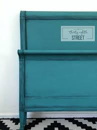 turquoise painted furniture ideas. diy painting furniture tutorial worn turquoise look bed transformation chalk painted ideas