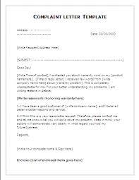 complaint letter template all about letter  complaint letter template sample letter of complaint muuhwmrc
