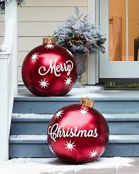 Lighted Christmas Ornaments Ball Outdoor Merry Christmas Ornaments Set Of 2 Beautiful