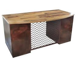 urban industrial furniture. Urban-Industrial Bow Front Executive Desk Urban Industrial Furniture